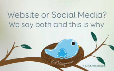 Website or Social Media? We say both and this is why